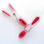 Clothing Laundry Pegs Translucent Pink